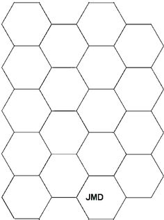 Printable hexagon templates for your creative craft or project ... : printable quilting templates - Adamdwight.com