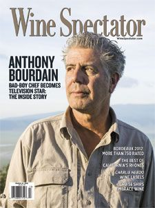 March 31, 2015 Issue: Anthony Bourdain's life took a turn when he decided to write about the true goings-on inside the restaurant world. His strong attitude and fearlessness was a departure from the norm, and turned him into a celebrity who now tells his story by traveling the globe in search of different cultures and culinary adventures. http://www.winespectator.com/issue/show/date/2015-03-31