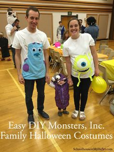 easy diy monsters inc halloween costume with pictures - Monsters Inc Baby Halloween Costumes