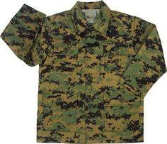 Kids Digital Camo BDU Shirt $17.58 http://www.armynavyshop.com/prods/rc66215.html #camo #camouflage #kidscamo #kidscamshirt #digitalcamo #armynavy #backtoschool #camobuttonup