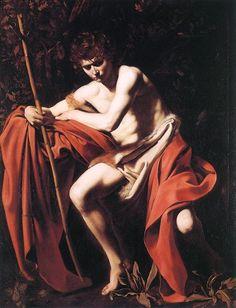 Caravaggio, San Giovanni Battista, 1604,『洗礼者ヨハネ』