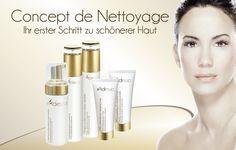 Adessa Concept de Nettoyage - Ihr erster Schritt zu schönerer Haut. Die tägliche Reinigung der Haut im Gesicht, auf Hals und Dekolleté ist ausschlaggebend für eine jugendlich-frische Ausstrahlung und damit Grundlage jeder erfolgreichen Schönheitspflege.