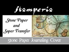 How to create a Mixed Media Journaling Cover - YouTube