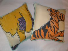 Upcycled Winnie the Pooh & Tigger Pillows by GoughGoodies on Etsy