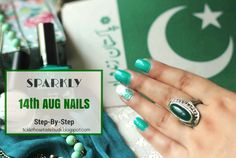Food, Beauty & Lifestyle: Sparkly Aug Nails - Step-by-Step Beauty Crush, Heart Diy, Sparkly Nails, Dots, Diy Projects, Nail Art, Lifestyle, Crafts, Bright Toe Nails