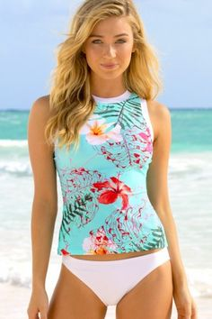 2c0388a2cf613 Flaunt your curves in HAPARI's Rio Tank Tankini Top. Perfect for a day at  the