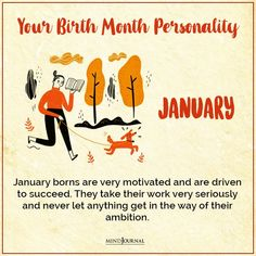 Birth Month Personality, How To Find Out, Let It Be, Motivation, Inspiration