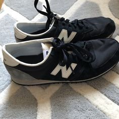 f0d0add847 Women s black and grey new balance shoes only worn a few 💫 - Depop Grey New