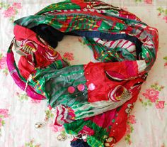 SALE  Multicolor Scarf Colorful Scarf Oriental by PinkkisShop