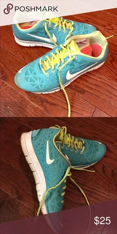 Nike Tennis Shoes Turquoise and yellow Nike sneakers. Nike Shoes Athletic Shoes