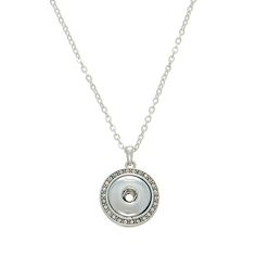 Wholesale silver necklace rhinestone Snap jewelry collection