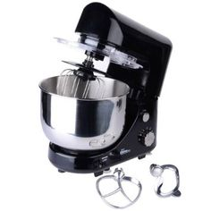 Your Kitchen Compact Stand Mixer, 600W, 4 L Bowl, 6 Speeds & Pulse Setting Black: Amazon.co.uk: Large Appliances