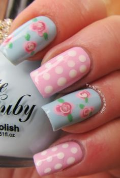 It's all about the polish: Pastel Roses