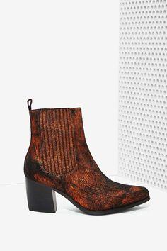 Black & Bronze  Chelsea Boot