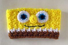 Crocheted Spongebob Coffee Cup Cozy Sleeve by TheEnchantedLadybug, $12.00