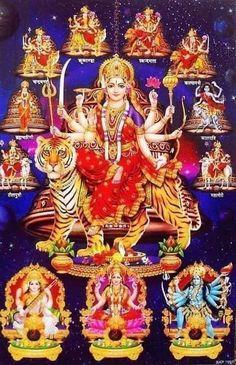 Navratri Puja will help you overcome all your negativities. Flourish with wealth on this Navratri by offering Homam to Lakshmi, Saraswathi & Durga. Durga Ji, Saraswati Goddess, Indian Goddess, Goddess Lakshmi, Shiva Shakti, Hanuman Images, Durga Images, Lakshmi Images, Lord Krishna Images