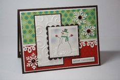 Merry Christmas by - Cards and Paper Crafts at Splitcoaststampers Stampin Up Christmas, Christmas Cards, Cuttlebug Embossing Folders, Merry Christmas Photos, Red Rhinestone, Winter Cards, Christmas Inspiration, Paper Design, Stamping