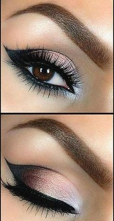 Eye Makeup - Les 50 plus beaux maquillages Plus - Health & Beauty, Makeup, Eyes Eye Makeup Red Dress, Smokey Eye Makeup Look, Black Girl Makeup, Cat Eye Makeup, Red Makeup, Eye Makeup Tips, Makeup For Brown Eyes, Cute Makeup, Gorgeous Makeup