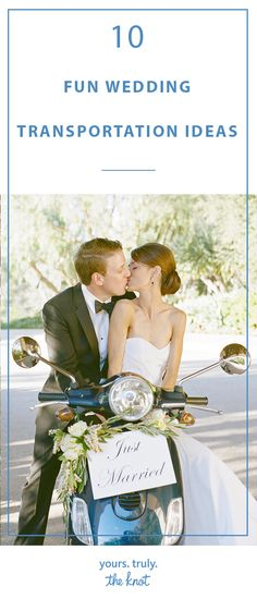 Arrive and depart in style in these modes of transportation on your wedding day. Wedding Day Tips, Wedding Planning Tips, On Your Wedding Day, Summer Wedding, Wedding Planner, Destination Wedding, Wedding Events, Wedding Ceremony, Wedding Transportation