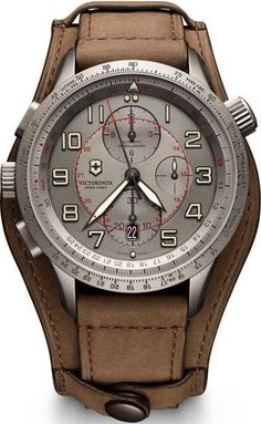 @vxswissarmy Watch Airboss Mach 9 Limited Edition #add-content #bezel-bidirectional #bracelet-strap-leather #brand-victorinox-swiss-army #case-material-titanium #case-width-45mm #chronograph-yes #classic #date-yes #delivery-timescale-1-2-weeks #dial-colou