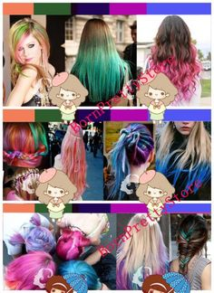born pretty store has hair chalk that stays in thru a few washings XD