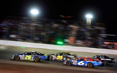 K & N Pro Series racer Greg Pursley leads the pack at Colorado National Speedway.