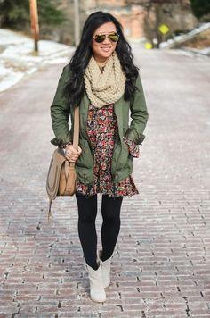 More Pieces of Me | St. Louis Fashion Blog: 90's style floral dress