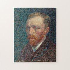 Vincent van Gogh Self-Portrait Art Painting Family Jigsaw Puzzle #jigsaw #puzzle #jigsawpuzzle Painting Frames, Painting Prints, Vincent Van Gogh Artwork, Van Gogh Self Portrait, Van Gogh Paintings, Thing 1, Impressionist Paintings, Detail Art, Lovers Art