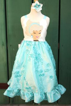 Disney Cinderella Semi Formal Party Dress Cruise Sizes 2 - 10