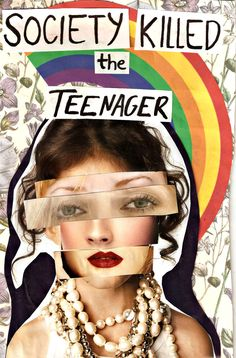 A distorted collage of a teenage girl, of what seems to be cutouts of magazines pasted on her face represents the extent to how society and medias interpretation of society can influence a teenager. Room Posters, Poster Wall, Poster Prints, Mode Collage, Protest Art, Photocollage, A Level Art, Gcse Art, Photo Wall Collage