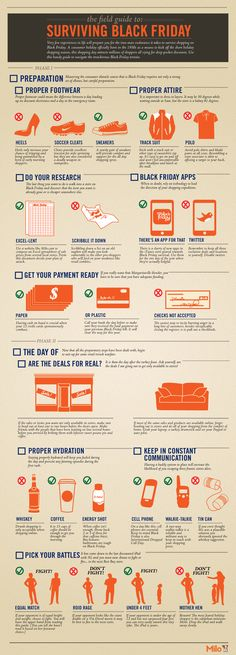BLACK FRIDAY SURVIVAL GUIDE - couldn't see all the tiny print. PLEASE don't have cuss words!