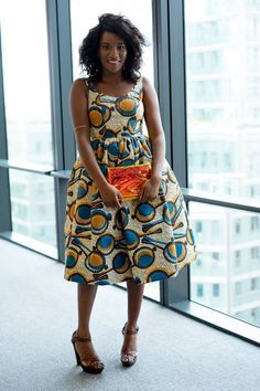 .I love the African prints on this dress. The colors just pop but don't doesn't over due with the colors.