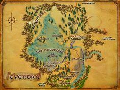 LOTRO map of Evendim