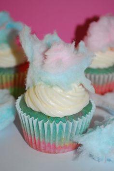 cotton candy cupcakes!
