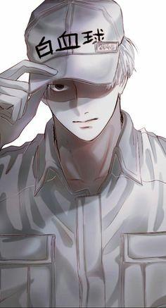 Cells at work Fan Art Anime, Anime Artwork, White Blood Cells, Handsome Anime, Cute Anime Guys, Amazing Drawings, Cool Sketches, Manga Illustration, Manga Anime