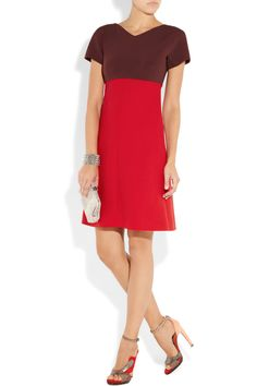 Paneled stretch-jersey and wool dress $1,925 Victoria Beckham Net-a-Porter