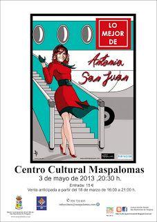 """#teatro 03/05 y 04/05: """"Lo mejor de Antonia San Juan"""" en #Maspalomas #grancanaria"""
