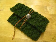 手編みクラッチバッグ