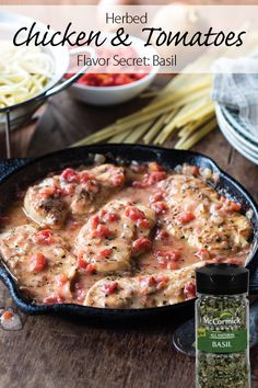 Basil brings fresh flavor to this Italian chicken dish with a creamy tomato sauce. Serve as a delicious entrée for entertaining.