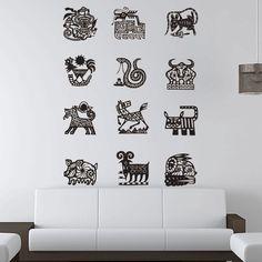 Chinese Ancient Zodiac Animal Year Symbol Wall Sticker. http://walliv.com/chinese-ancient-zodiac-animal-year-symbol-wall-sticker-art-decal