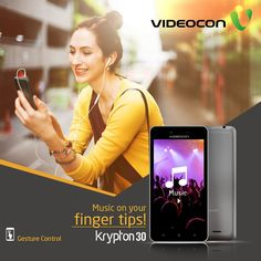 Now play your favourite music with gesture control on Videocon Krypton 30. Know more - https://www.videoconmobiles.com/krypton-30