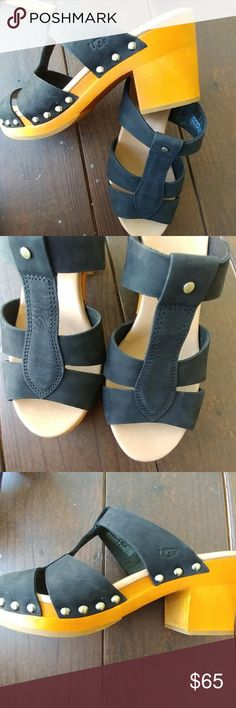 UGG black mules, clogs shoes So pretty, trendy and the best of quality.  True to size UGG Shoes Mules & Clogs