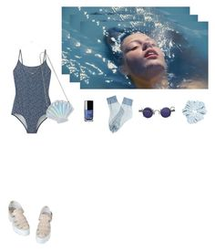 """blue is the warmest color."" by sashalenina ❤ liked on Polyvore"
