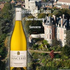 Unser #Wein - Tipp des Tages!  Ein Sancerre von Daniel Reverdy. Ein #Weisswein aus dem AOC Weinbaugebiet #Sancerre. Dieses befindet sich rund um den gleichnamigen Ort an der nördlichen #Loire. Die Farbe ist ein schönes Gelb mit grünlichen Reflexen. Der #Wein ist duftig-blumig, fruchtig-frisch. Mineralisch geprägt mit einer lebendigen Säure.