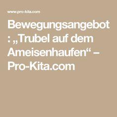 """Bewegungsangebot: """"Trubel auf dem Ameisenhaufen"""" – Pro-Kita.com"""