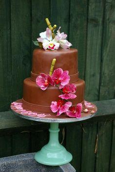 Cake Decorating: cymbidium, and moth orchids chocolate ca