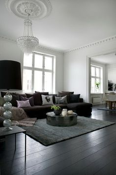 Dark Floor and Dark Sofa (Wenche Holth of Suzan Interior)