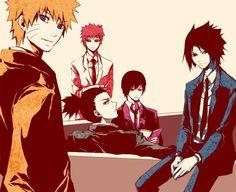 ナルト、我愛羅、シカマル、サイ、サスケ 鳴人、我愛羅、鹿丸、祭、佐助 Naruto, Gaara, Shikamaru, Sai, Sasuke
