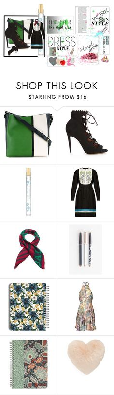 """""""Floral dress@work II"""" by rhaxkido ❤ liked on Polyvore featuring Lanvin, Tabitha Simmons, Marc Jacobs, Tomas Maier, U Brands, Matthew Williamson, Vera Bradley and Nordstrom"""
