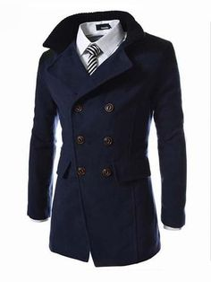 Damen Business Blazer Wintermantel Wollmantel Lang Anzug Jacke Sakkos Mantel DE